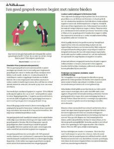 Artikel Volkskrant door Maurits Chabot
